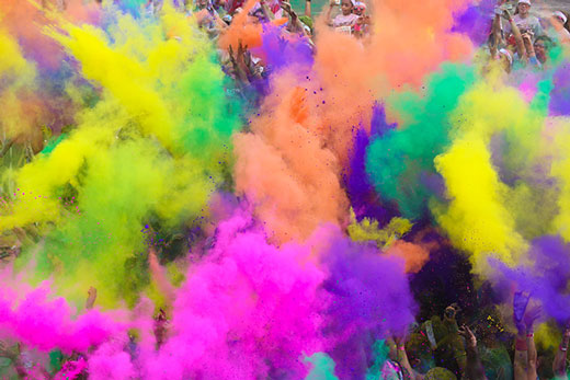 how to get color run off skin