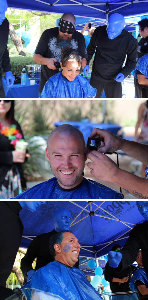 more people with shaved heads