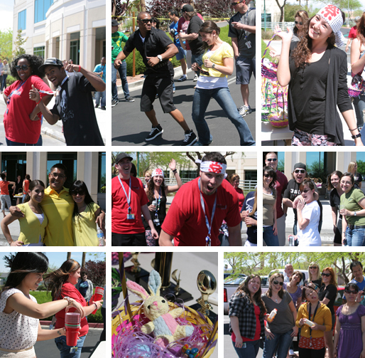 culture, easter, fun and weird, fun and weirdness, games, minute to win it, the amazing race, zappos culture, zapposfamily, Zappos fun, zappos hq