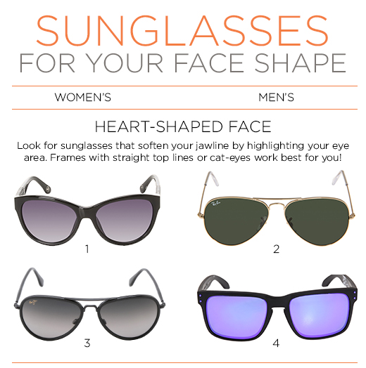Glasses Frame For Heart Face : Face First: The Perfect Sunglasses for Your Face Shape